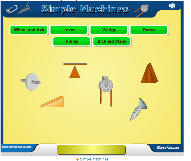 Simple Machines For Kids Worksheets For great simple machine games