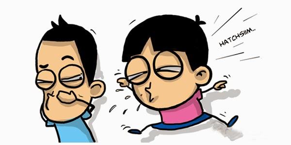 Lafadz doa ketika bersin dan doa ketika mendengar orang bersin