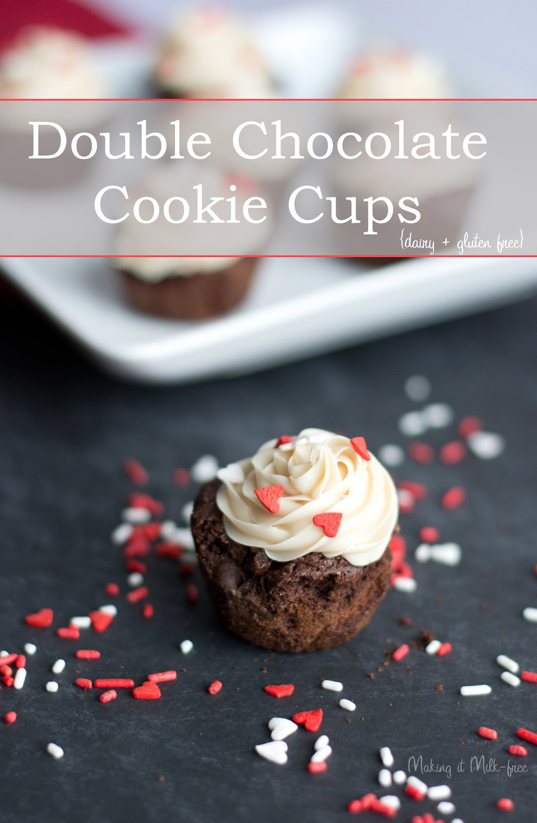 Double Chocolate Cookie Cups {dairy + gluten free} from Making it Milk-free