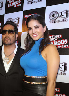 Sunny Leone unable to  hide her big boobs at Balwinder Singh Famous Hoa Music Launch Hot Tight Top