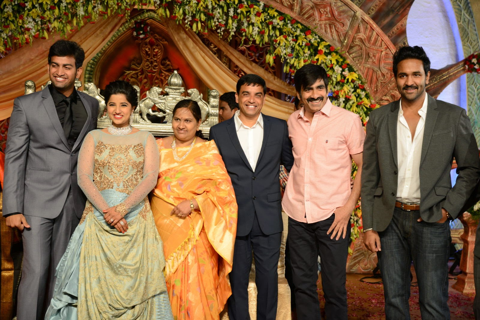 M: 120 Artificial Fall Maple Leaves in a Marriage photos of ravi teja