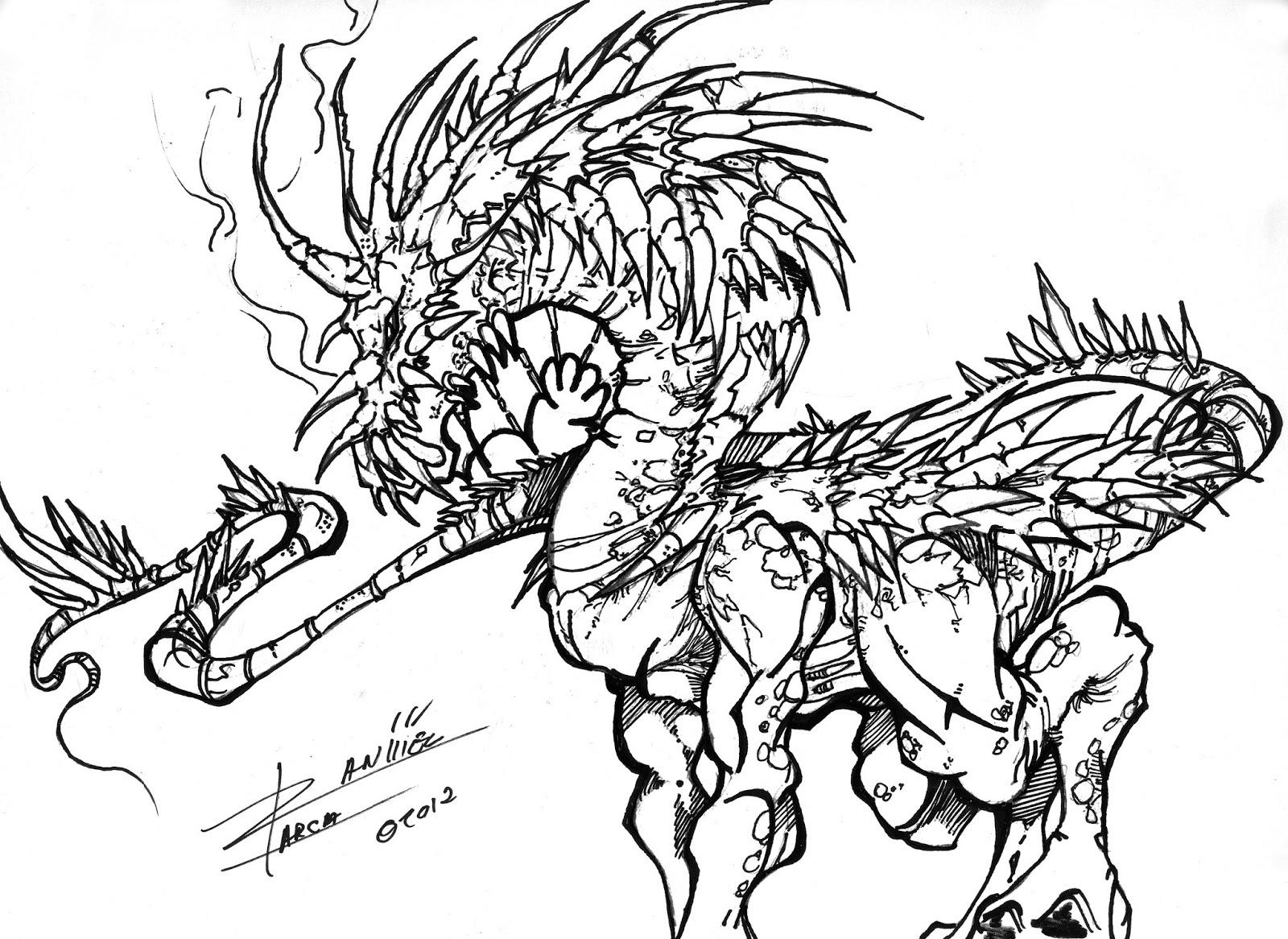 DANIEL GARCIA Dibujante todoterreno: AG Diseños de dragones ...