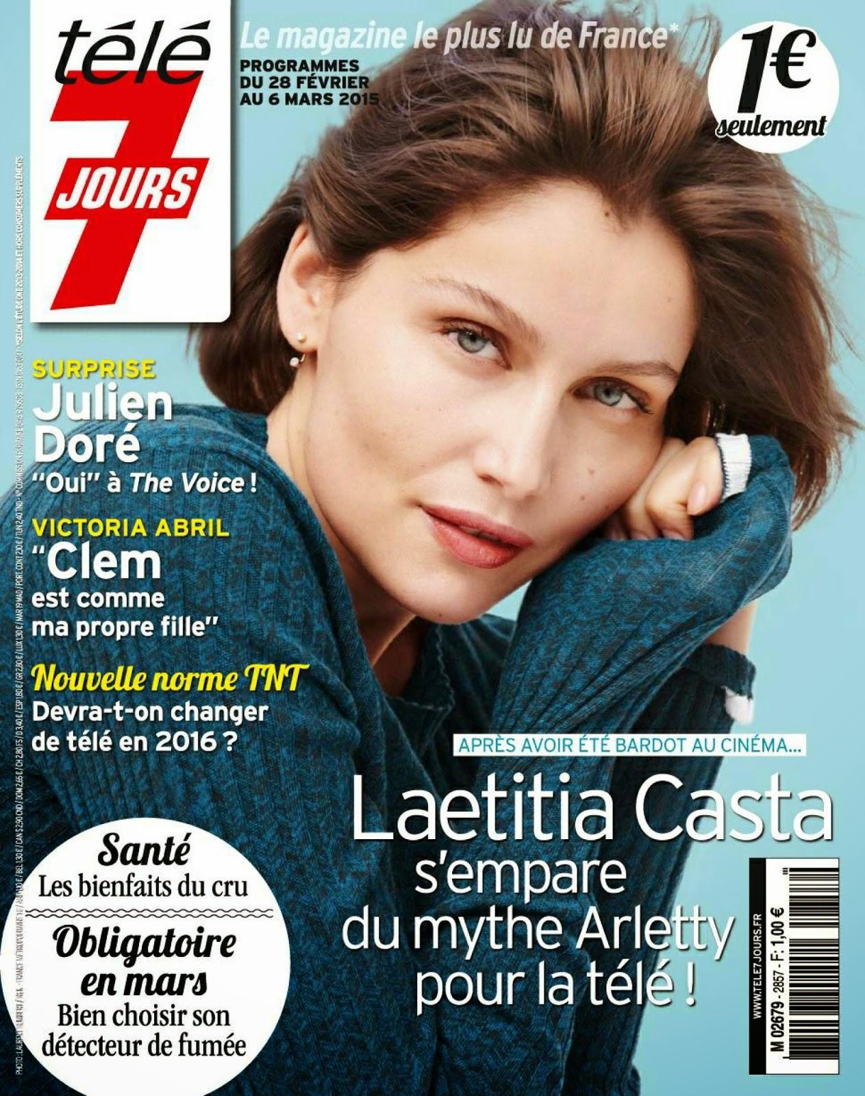 Supermodel,  Actress: Laetitia Casta - Tele-7-Jours France, March 2015
