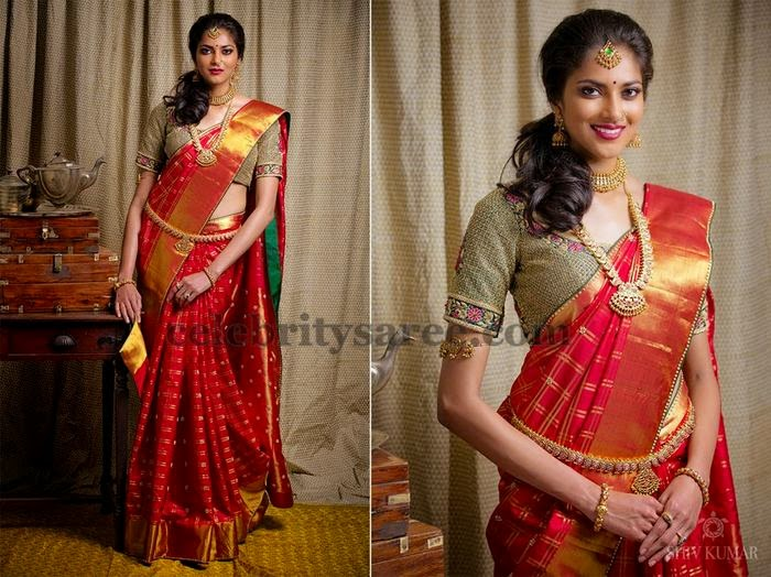Bridal Saree by Bhargavi