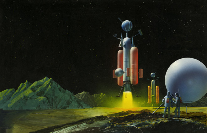 Daily Lazy Vintage Space Art By John Polgreen