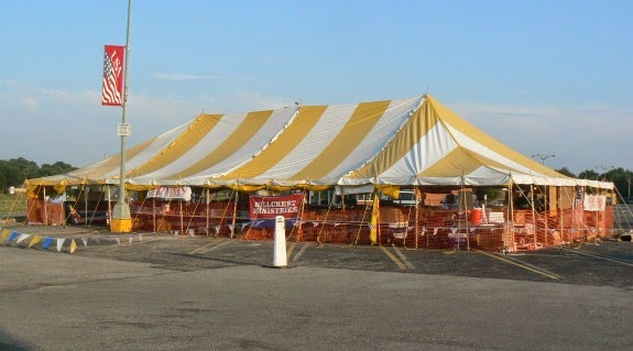 Just look for the big yellow and white tent! & A Beautiful Ruckus: A Happy Way to Celebrate Independence Day + A ...