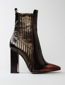 Patterned Leather Boots