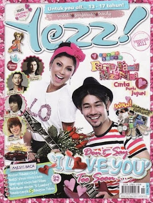 Mizz Nina and Farid Kamil in Yezz! Magazine