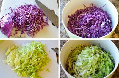 Salad Apple with Purple Cabbage Recipe - Salad Táo và Cải Tím