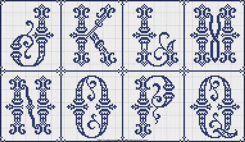 вышивка крестом латинский алфавит схема