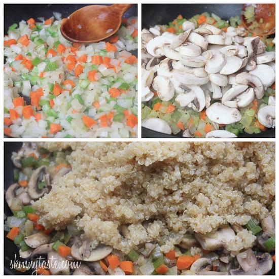 Mushroom Fennel Quinoa Stuffing | Skinnytaste