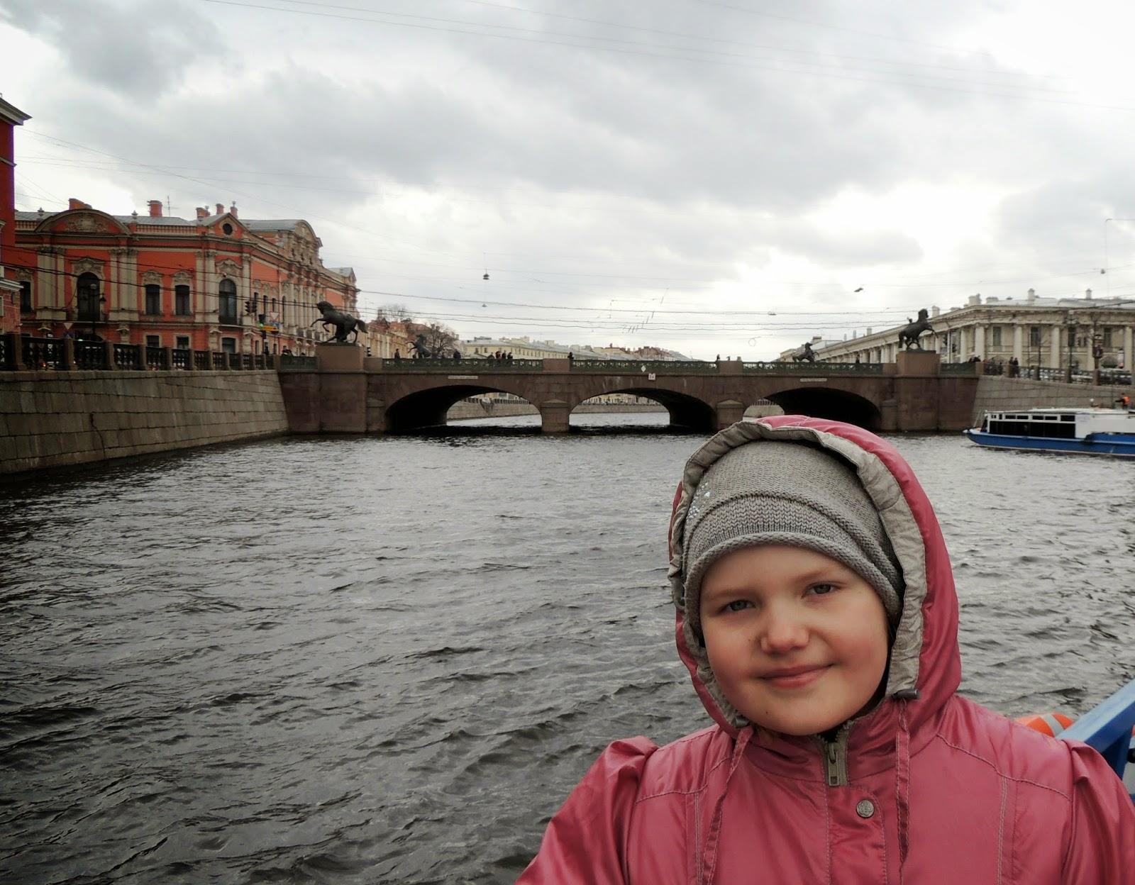 Водная прогулка, Аничков мост, Санкт Петербург