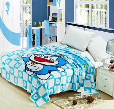 Konsep Dekorasi Kamar Tidur Anak Doraemon