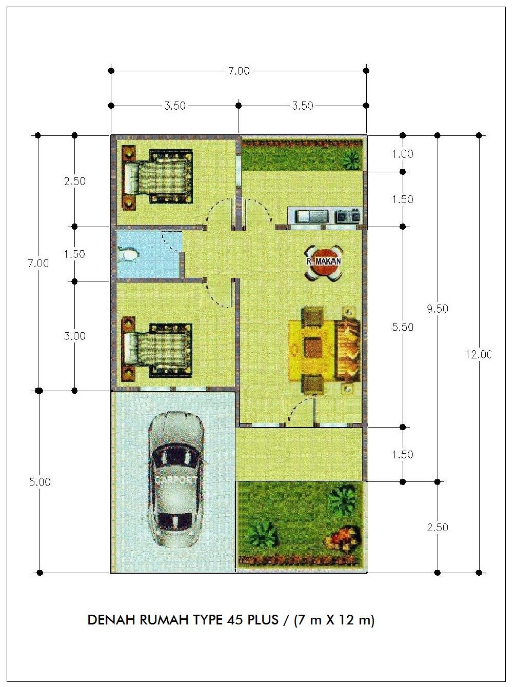Desain Rumah Type 45 Model Minimalis Sederhana Modern Terbaru