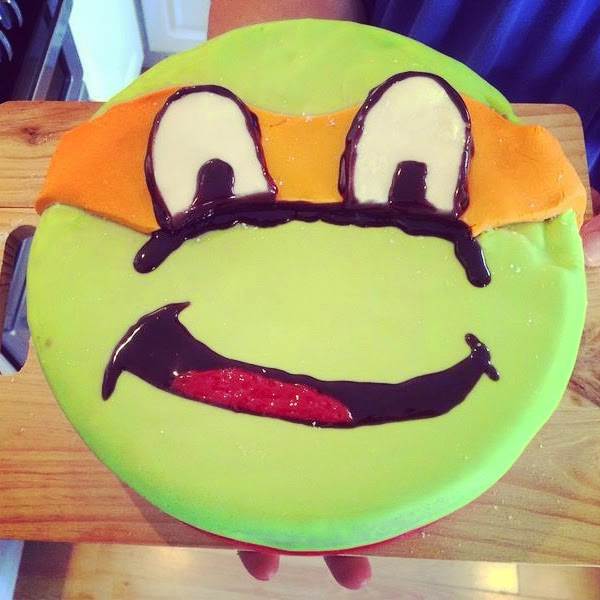 TMNT Cake, Michaelangelo cake, character cake for 6 year old