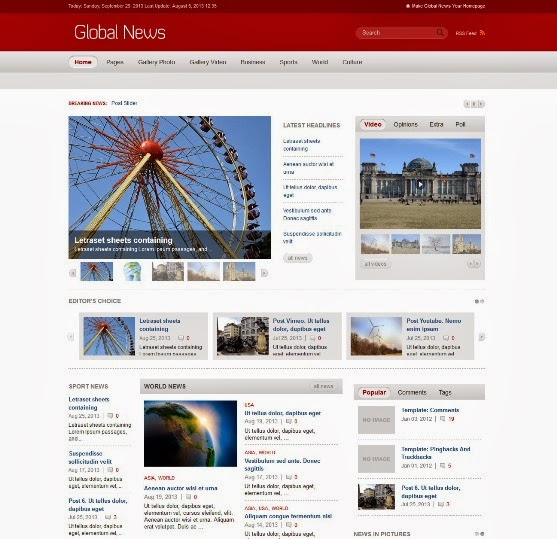 Global News Portal Responsive WordPress Theme