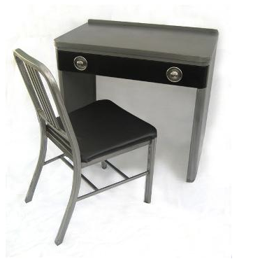 This Small Desk With Matching Chair Is A Good Example Of How Simple Design Can Be Striking