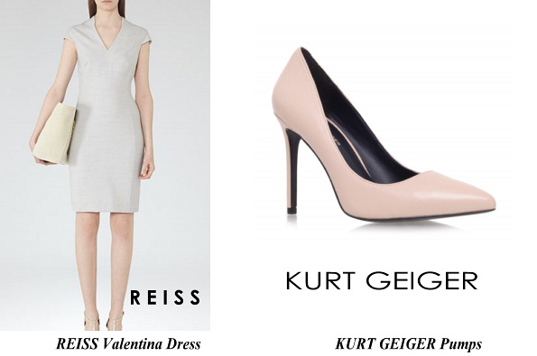 Princess Sofia's REISS Valentina Dress And KURT GEIGER Pumps