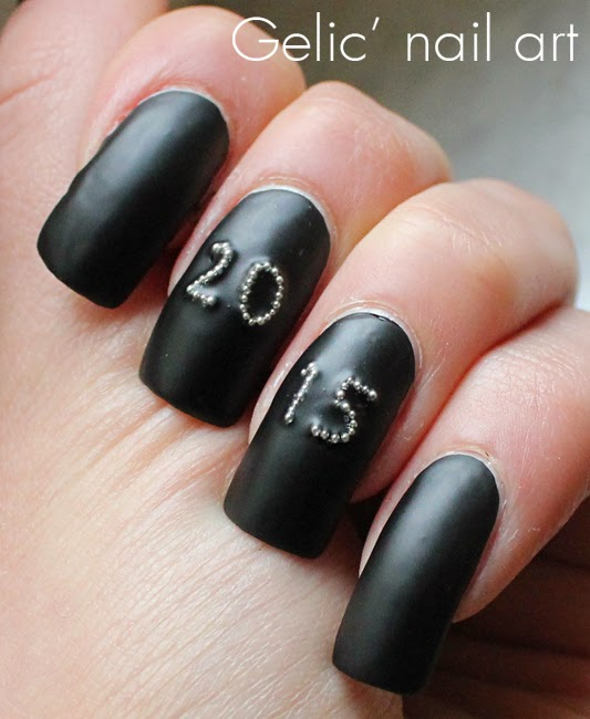 Gelic\' nail art: New years eve nail art goes matte