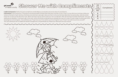 Shower Me with Compliments Activity Sheet