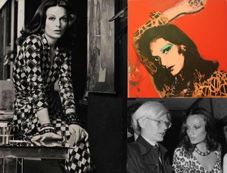 Diane Von Furstenberg and Andy Warhol