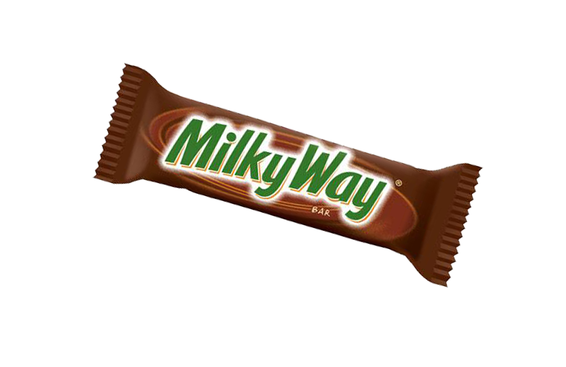 the milky way candy bar Contains one (1) 36-count box of 184-ounce milky way milk chocolate singles size candy bars milky way candy bars feature creamy caramel and smooth nougat enrobed in rich milk chocolate.