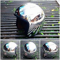 Helm motor dan scooter chrome vespa 3/4 half face