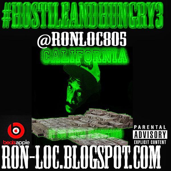 Big Ron-Loc #HostileAndHungry3 Back mixtape cover artwork