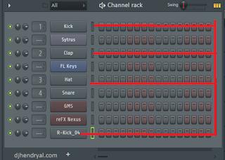 Cara narik turunin channel Rack di dalam pattern