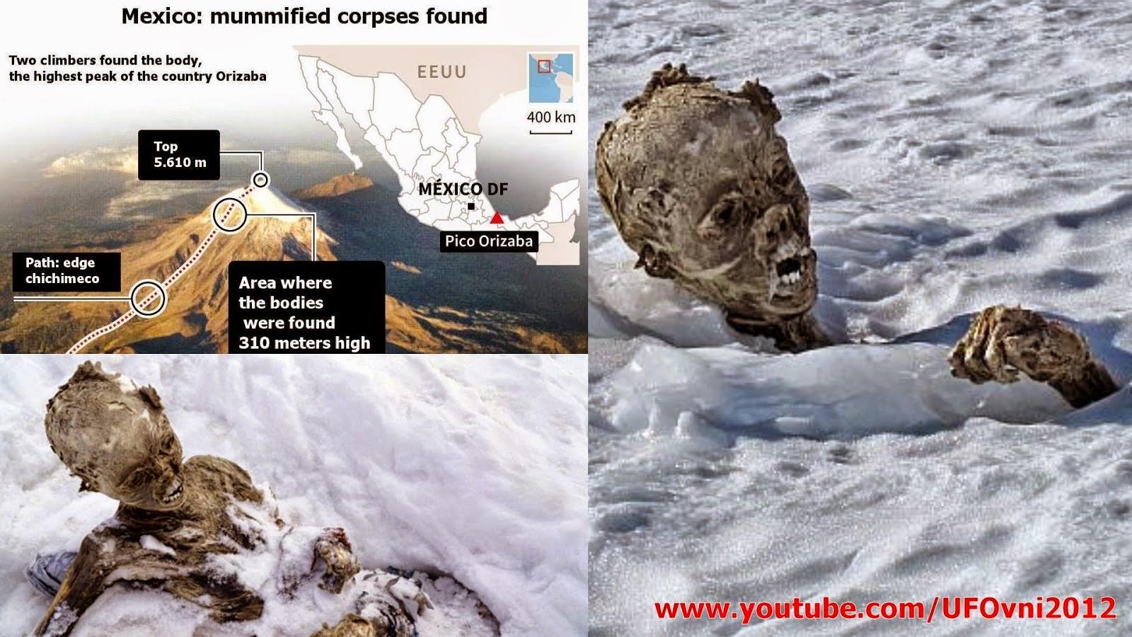 lpinistes momifiés émergent de la glace sur le volcan mexicain après 55 ans