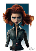 The Avengers Assemble's Black Widow ( Scarlett Johansson ), drawn for the .