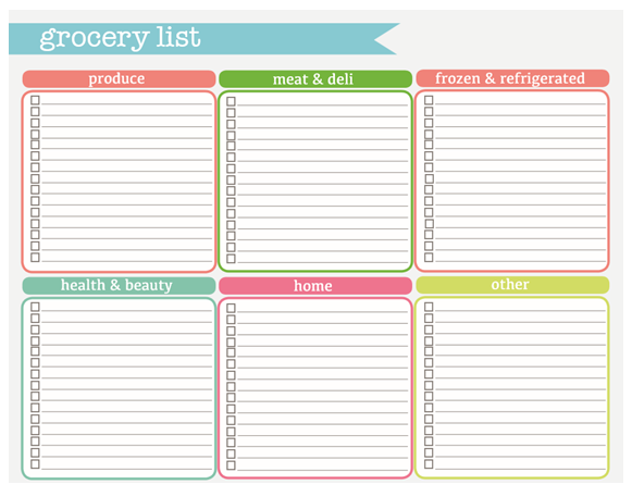 These grocery lists will be really helpful too!