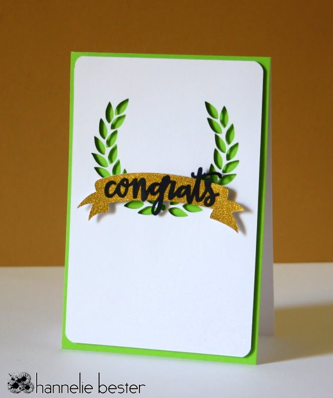 green and gold congrats card
