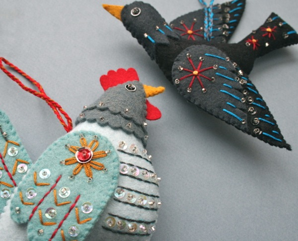 Mmmcrafts handmade gifts french hen and colly bird