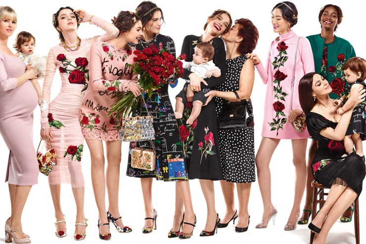 dolce gabbana fall 2015 ad campaign models moms babies and