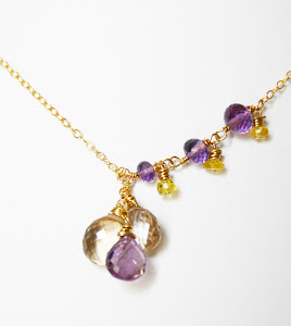 Perfect trio- Ametrine and Sapphires