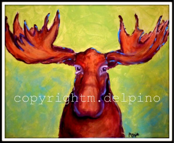 Abstract Moose Painting I was shopping and saw a gorgeous moose head ...