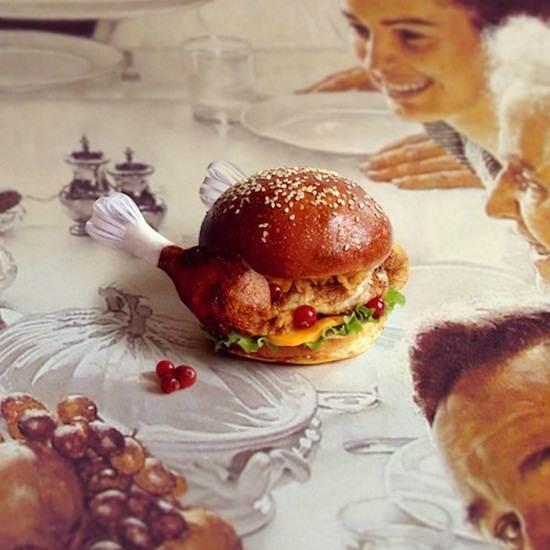 drumstick-burger