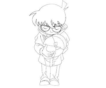 #6 Detective Conan Coloring Page
