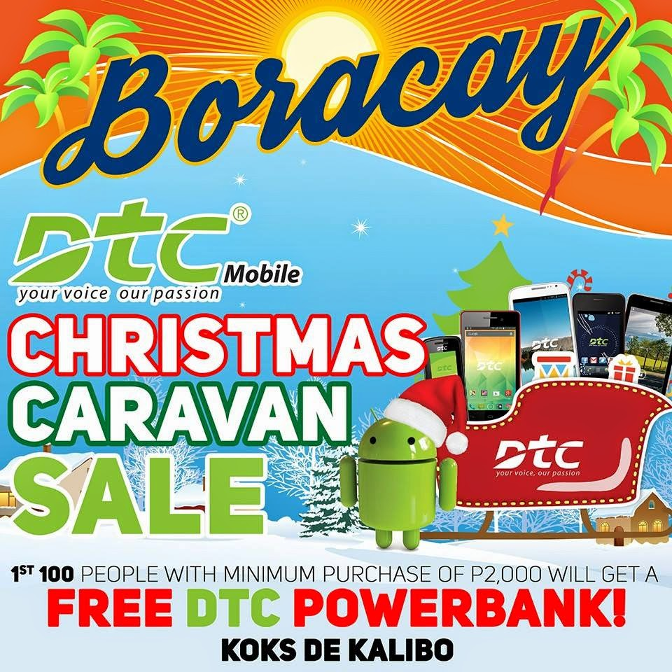 Free DTC Powerbank in the Last Day of  DTC Christmas Caravan Sale at Boracay