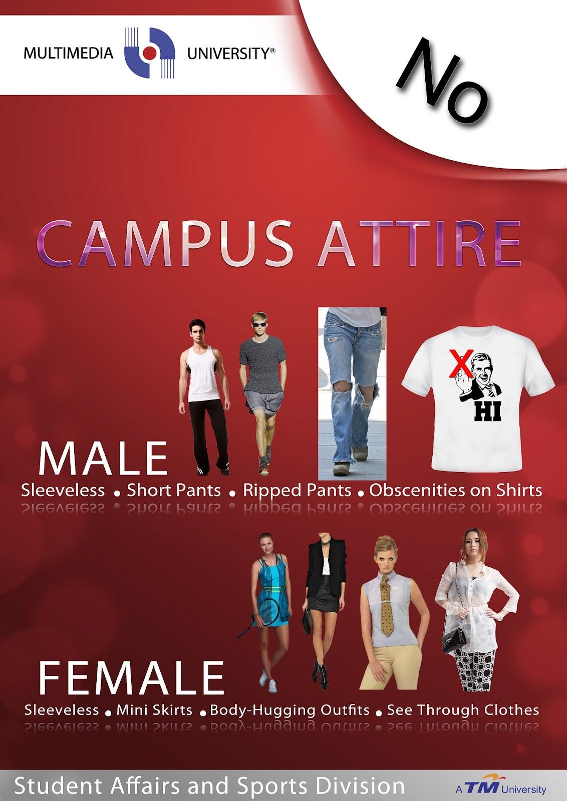 Hasil carian imej untuk Multimedia University Dress Code