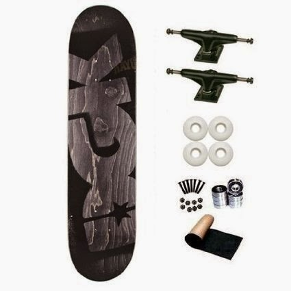 Cheap Dgk Skateboards DGK Black Stencil Team 825 Skateboard Deck Complete W White Wheels