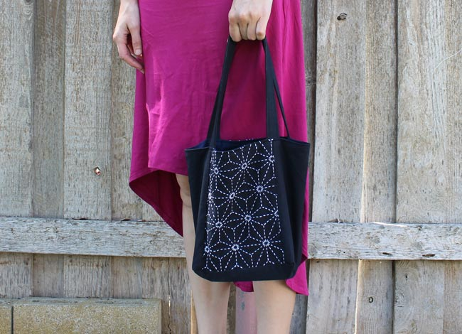 Sashiko Mini Tote Bag