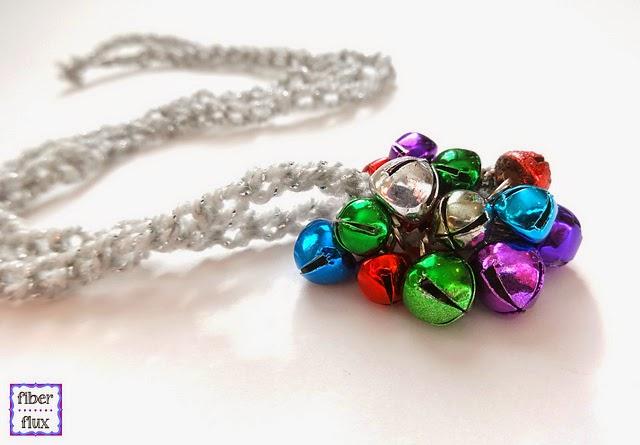 free crochet pattern jingle bell pendant necklace