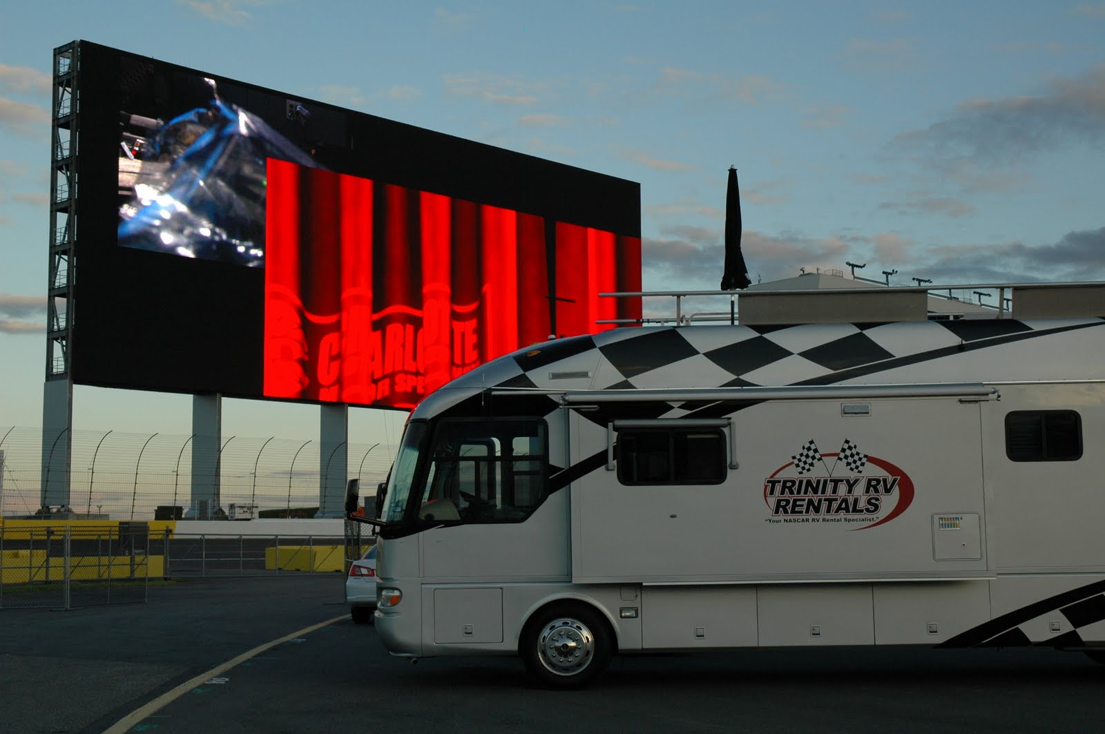Trinity rv rentals updates specials for Charlotte motor speedway hotel packages