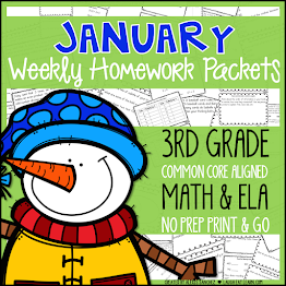 Third Grade Weekly Homework