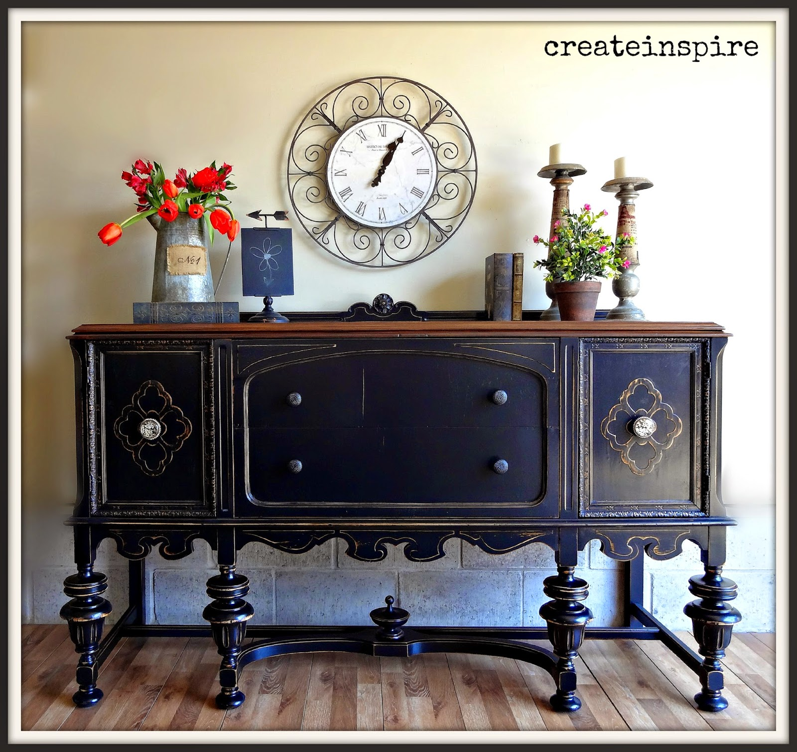 Createinspire antique buffet in black - Furniture picture ...