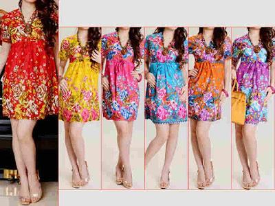 floral dress bahan katun