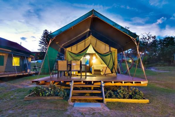 Photos via Tweed Coast Holiday Parks & Posh Camping Australia: Kingscliff North Holiday Park Review