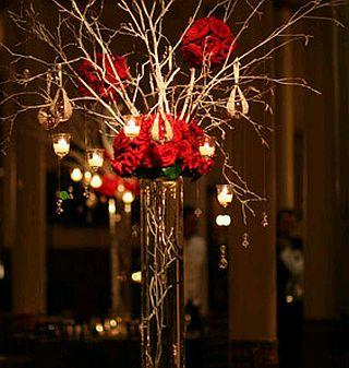 Centros de mesa con ramas y cristales parte 1 - Cristales de colores para mesas ...